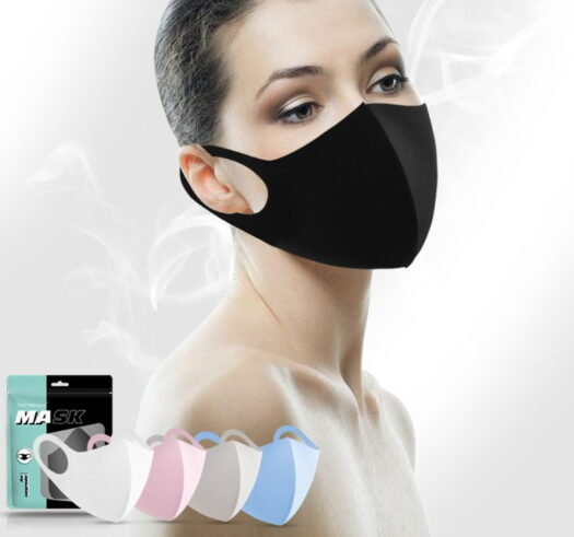 high quality face mask 100% polyester breathable washable