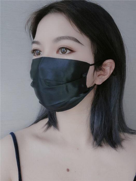 Mascarilla de seda 100% de alta calidad con estilo