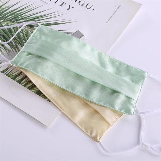 Elegante máscara de seda Mulcher de 2 capas