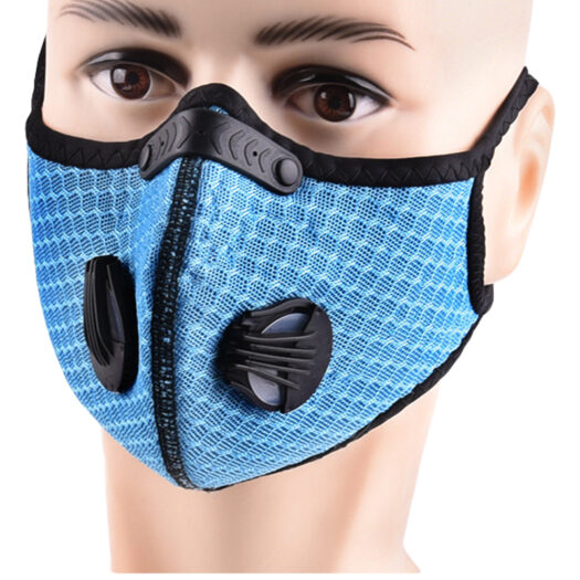 Sports mask high quality breathing valve face mask cycling mask filtration