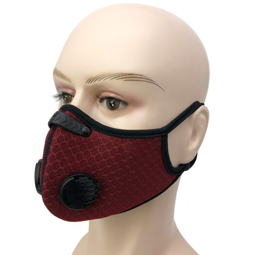 Sports mask with high quality breathing valve filtration