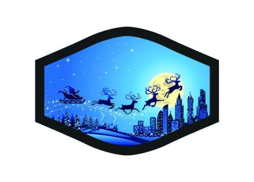 Antibakteerinen puuvillamaski Joulu Christmas Hopea-ioni