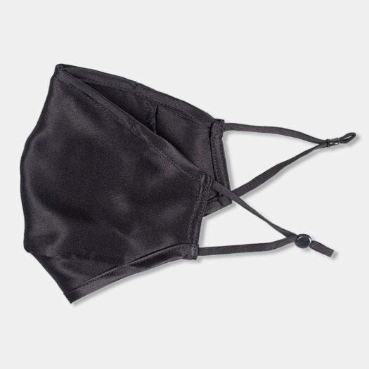 elegante máscara de tela de máscara de seda de 2 capas