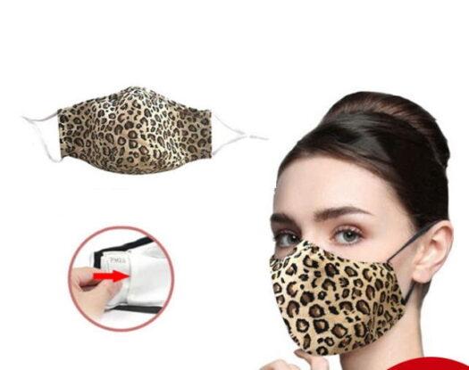 cotton leopard face mask fabric mask